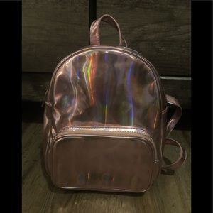 Forever 21 Pink Metallic Backpack